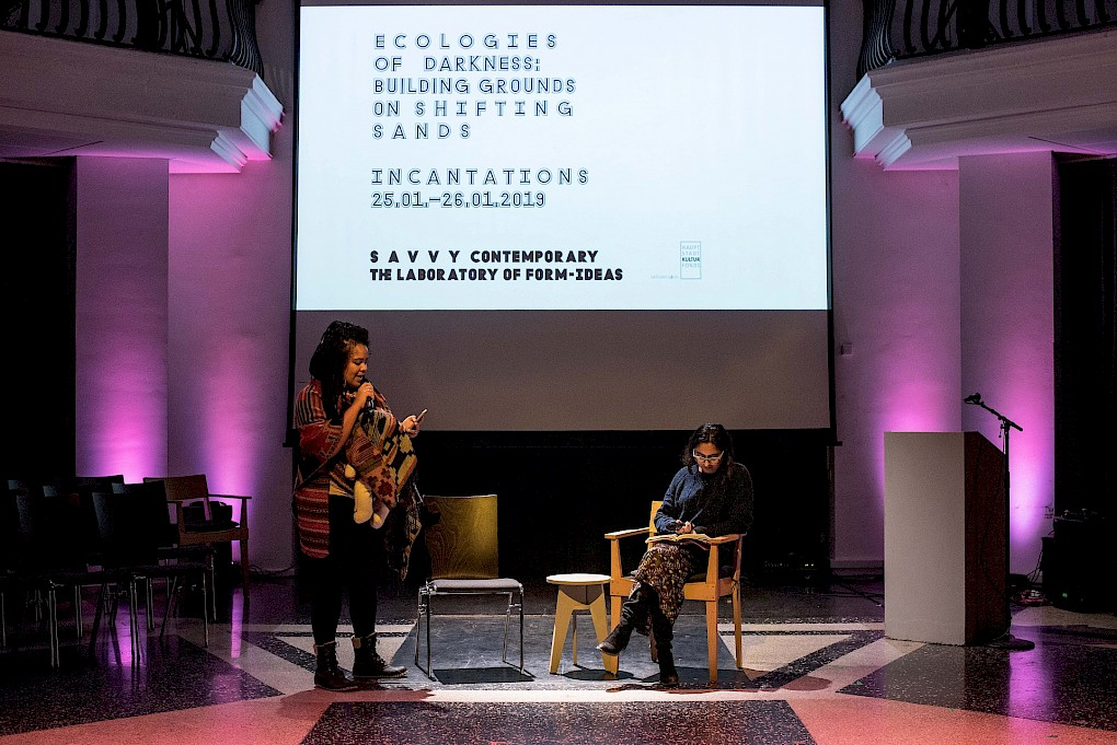 Incantations for Ecologies of Darkness: Reading and Conversation with Nathalie Mba Bikoro and Pallavi Paul | Photo: Raisa Galofre