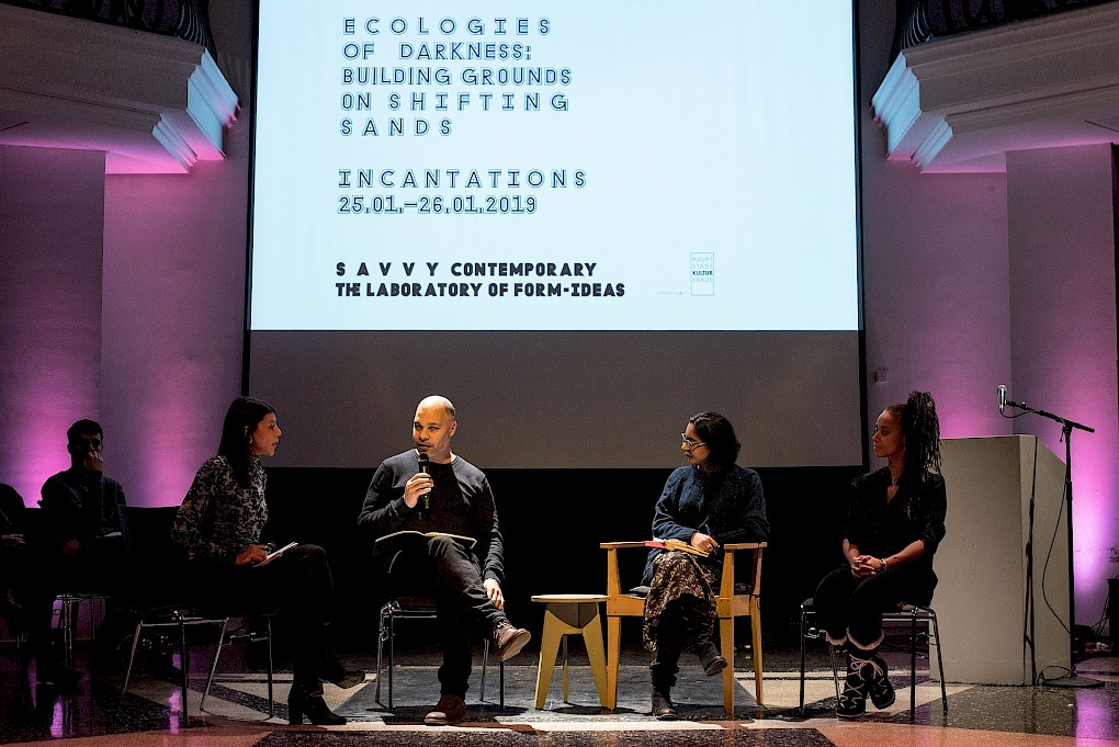 Incantations for Ecologies of Darkness: Conversation with Elena Agudio, Olivier Marboeuf, Pallavi Paul and Jeannette Ehlers | Photo: Raisa Galofre