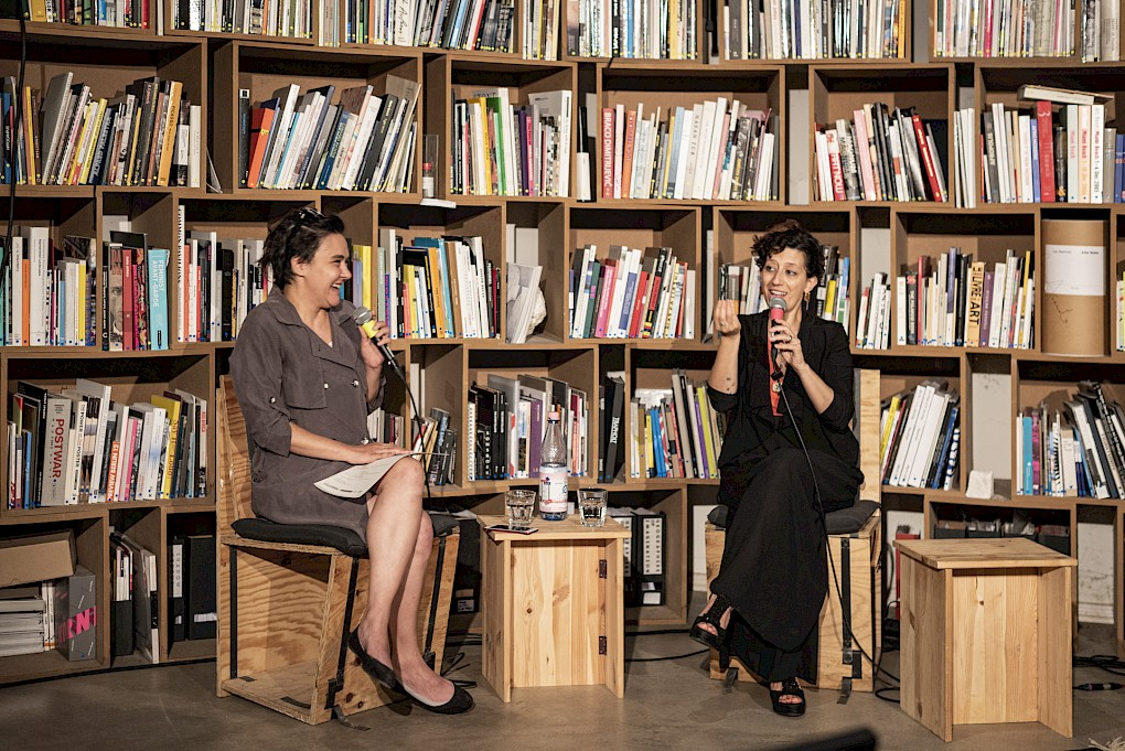 Alessandra Eramo in conversation with Kamila Metwaly | Photo: Marvin Systermans