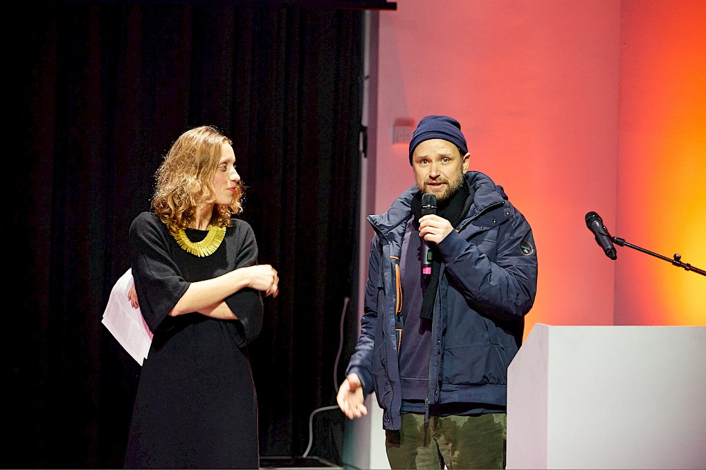 Tomás Saraceno with Antonia Alampi | Photo: Hannes Wiedemann