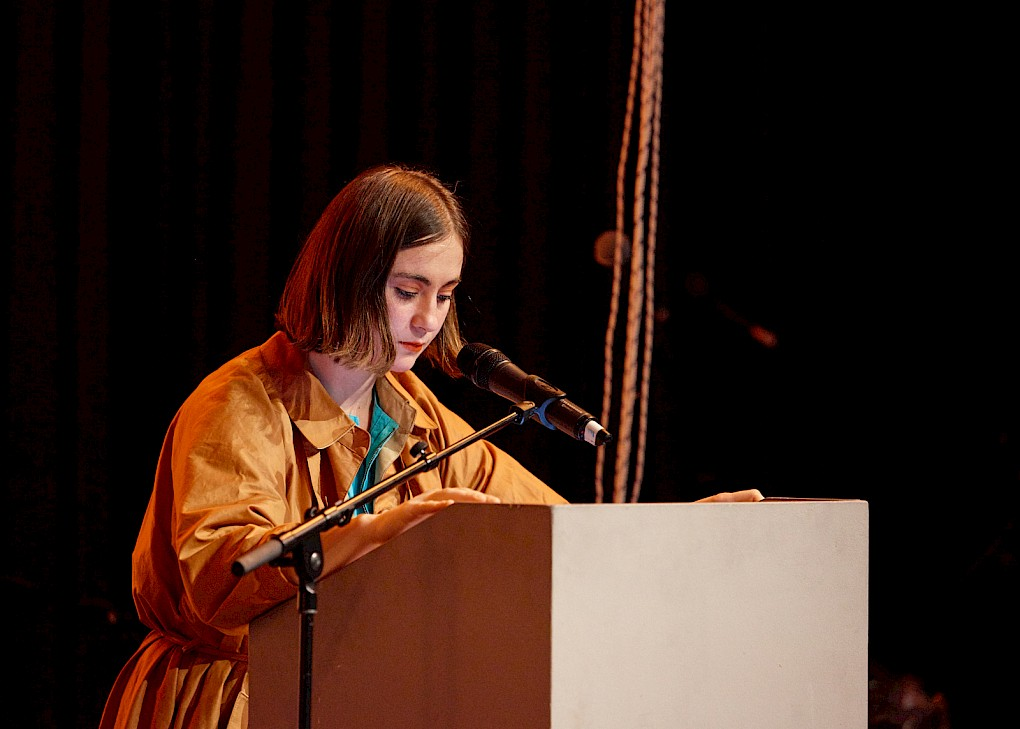 Poetry Reading by Jasmina A-Qaisi | Photo: Hannes Wiedemann